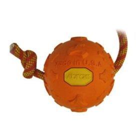 My Good Dog Vibram Ball w/ Rope Orange 4″