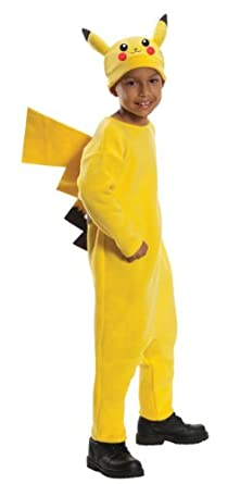 Pokemon Child's Deluxe Pikachu Costume - One Color - Large