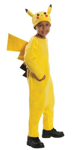 Pokemon Child's Deluxe Pikachu Costume - One Color - Medium