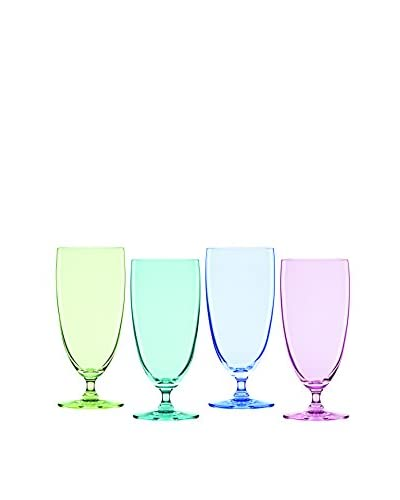 Marquis by Waterford Vintage Ombré Iced Beverage S/4 (Bright Green, Aqua, Blue, Purple)