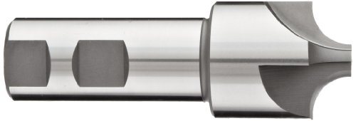 YG-1 E1237 High Speed Steel (HSS) Corner Rounding End Mill, Weldon Shank, Uncoated (Bright) Finish, Non-Center Cutting, 4 Flutes, 3