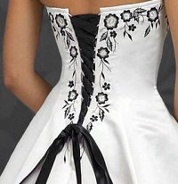 Lace corset back dress
