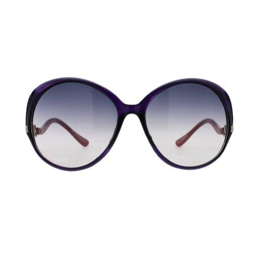 Zest 130-85 Purple frame red arm Women's ANTI-UV Sunglasses(Transparent Purple gradient Lens)-60mm