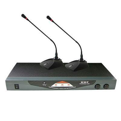 Pyle-Pro Pdwm2150 Professional Dual Table Top Vhf Wireless Microphone System