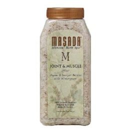 Masada Mineral Herb Spa 100% Natural Dead Sea Mineral Salts with Herbs & Aromas, Joint & Muscle, 2 lbs