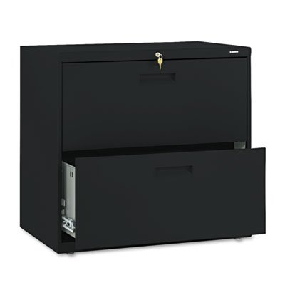 Hon 572Lp 500 Series 30 By 28-3/8 By 19-1/4-Inch 2-Drawer Lateral File, Black