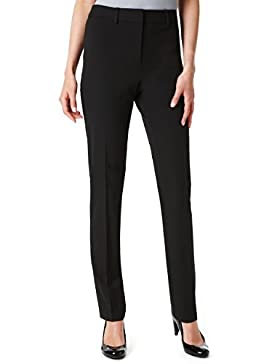Contrast Stripe Cigarette Trousers, Black