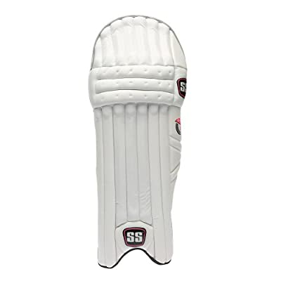 SS Aerolite Men's RH Batting Legguard (White/Grey)