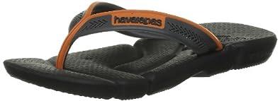 Havaianas Boys' Kids Power Thong Sandals Black Black/Tangerine 25-26