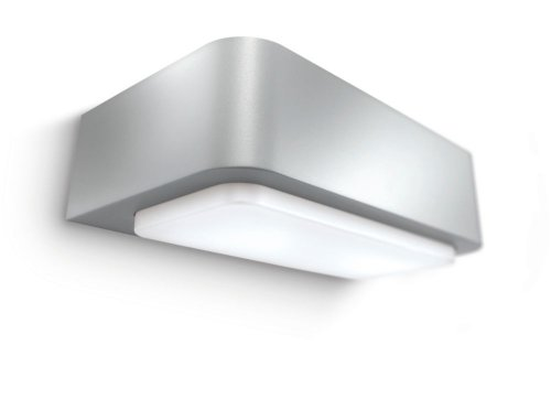 Philips Ecomoods Outdoor Energy Saving Up And Down Wall Light 16900/87/16 In Silver Effect