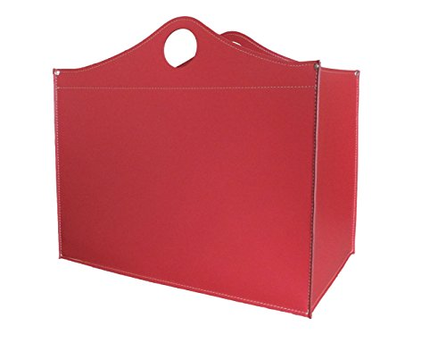 WOODBAG: borsa in cuoio portalegna e/o pellet, in cuoio rigenerato colore Bordeaux, con ruote gommate.