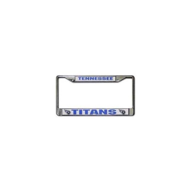 License Plate Frame Chrome   NFL Football   Tennessee Titans