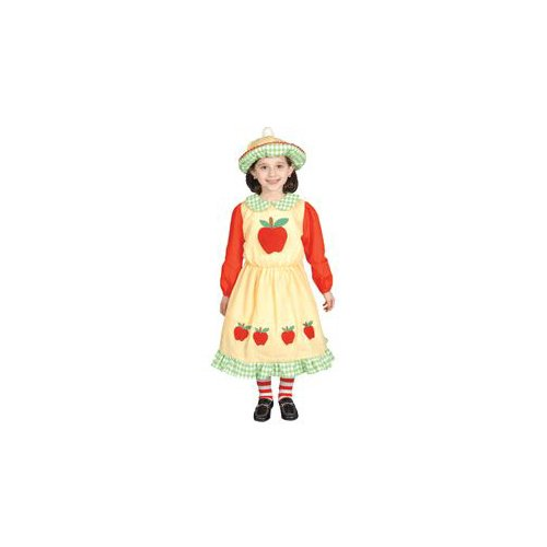 Pretend Deluxe Apple Dress Toddler Costume Dress-Up Set Size 4T
