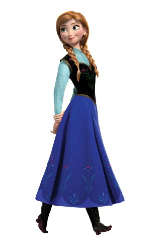 Roommates Frozen Anna Peel And Stick Giant Wall Decals