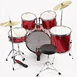 Full Size Starter Drum Kit by Gear4music RED