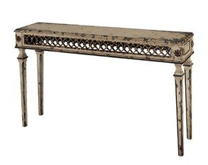 Cheap Console Sofa Hall Table – Traditional Antique White Finish (VF_CN-CF2660)