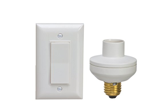 wireless remote control light switch socket cap to turn lamps pull chain fixture ebay. Black Bedroom Furniture Sets. Home Design Ideas