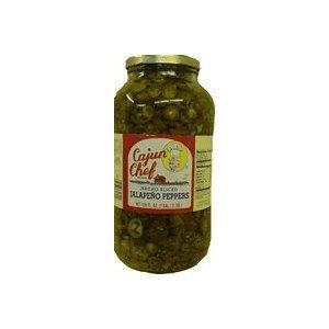 Cajun Chef Nacho Sliced Jalapeno Pepper Glass Jar, 1 gal (Pack of 4) (Cajun Chef Jalapeno compare prices)