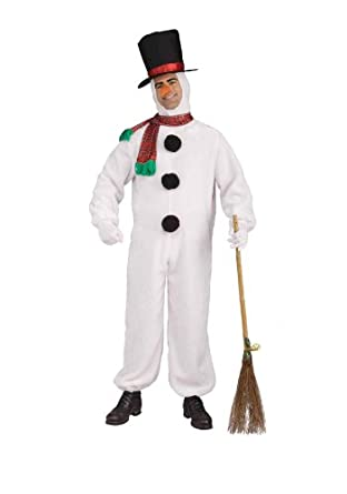 Forum Novelties Men's Plush Snowman Costume, Multi, One Size