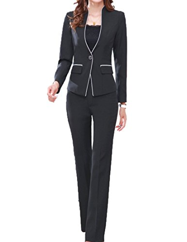 MFrannie Women's Elegant Layer Business OL Coat And Pants Slimming Suit Set
