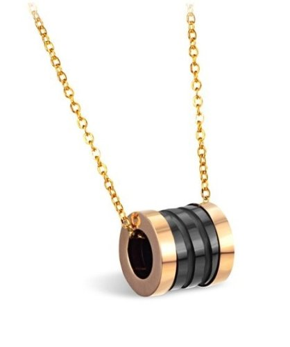 High Polished Lady's Shining Tungsten Carbide Ring Pendant Necklace Simple Korean Style