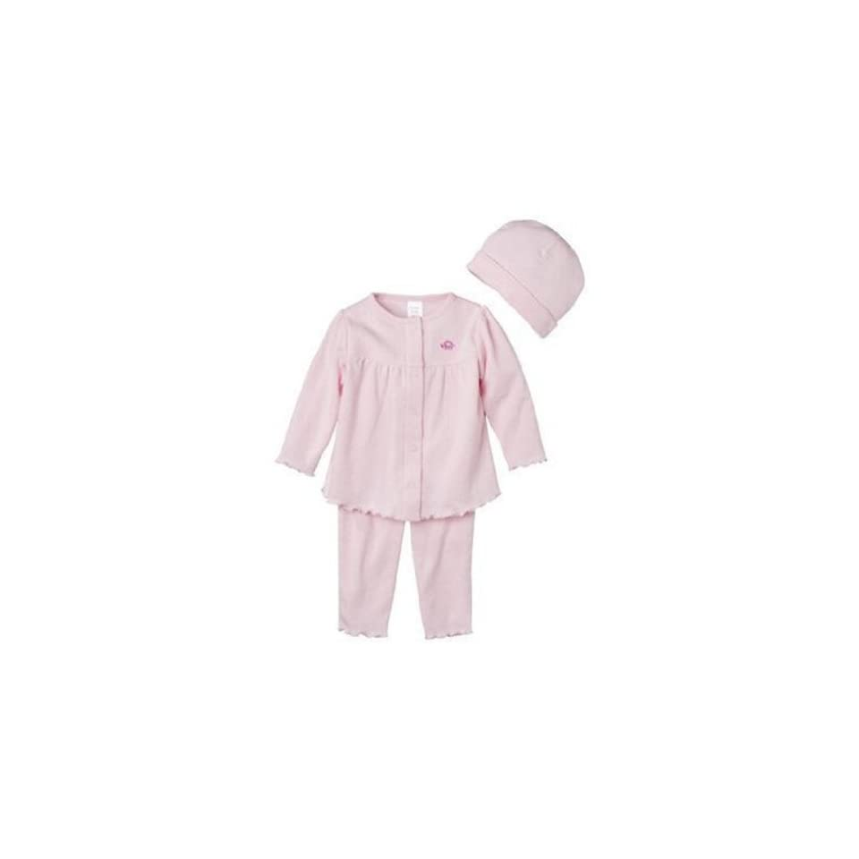 Precious First Made By Carters Baby Girls Infant 3pc Pants Set Pink