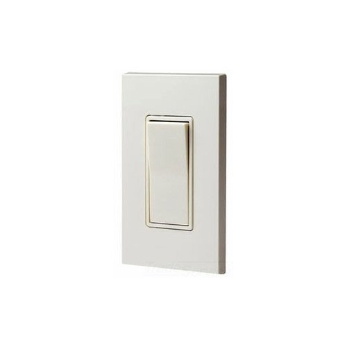 Leviton 5613-I 15 Amp, 120/277 Volt, Decora Rocker Lighted Handle, Illuminated Off 3-Way Ac Quiet Switch, Residential Grade, Ivory