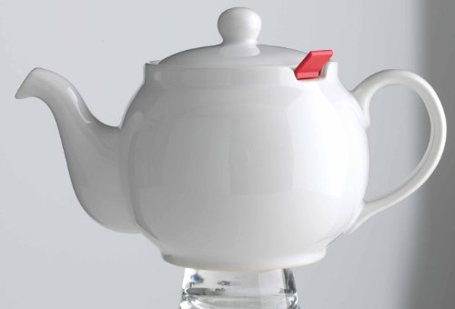 London Teapot Company-Chatsford 6-Cup Teapot With One Red Filter, White