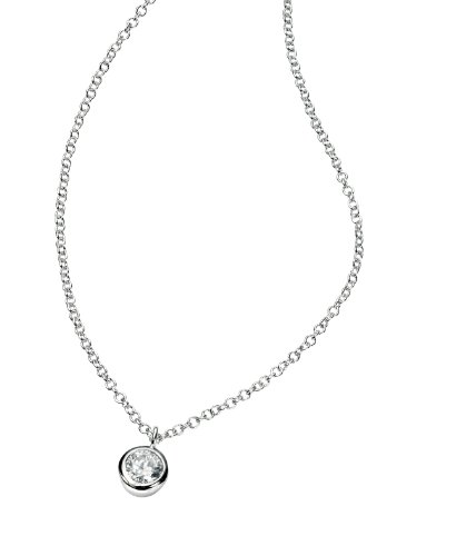 Elements Sterling Silver Ladies N3397C Cubic Zirconia Necklace Length 41+5cm
