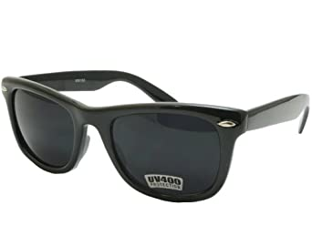 G&G Black Wayfarer 80's Blues Brothers Sunglasses Super Dark