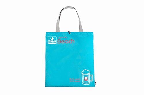 Borsa Mare, GOX Premium Large 190T Nylon Portatile Multi-funzionale Borsa da spiaggia / Borsa coulisse / Abbigliamento e Calzino Borsa di Stoccaggio / Viaggia Organizzatori con Manico / Beach Tote Bag (Blu)