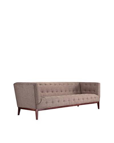 Kardiel Margaret Mid-Century Modern English Tufted Sofa, White