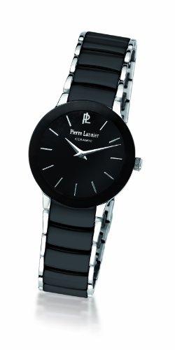 Pierre Lannier 006K938 - Reloj analógico de cuarzo para mujer, correa de cerámica color negro