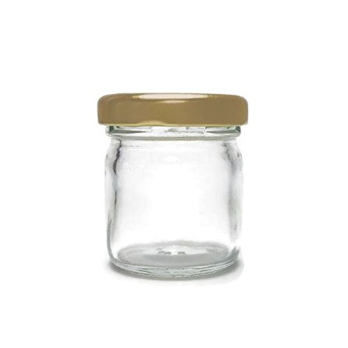 Clear Glass Jar 1.25 Oz With Gold Lid (Sks Bottle & Packaging compare prices)