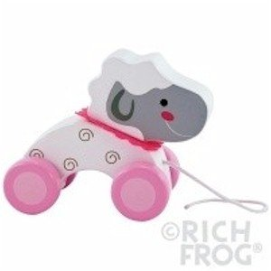 Rich Frog Wooden Pull Toy - Lamb - 1