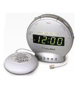 Sonic Alert Alarm Clock with Phone Signaler and Vibrator SA-SBT425SS