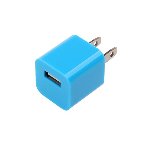 Xgen Home Travel Wall Ac Charger Usb For Iphone5 5S 5C Ipad Mini Ipod Touch 5Th Generation- Ios 7 Supported The Highest Quality-(Blue)