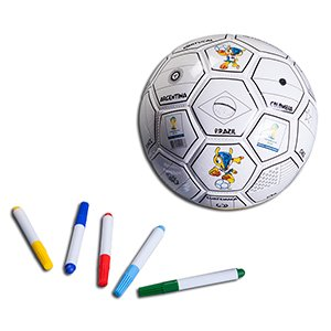 Buy FIFA World Cup Color Your Soccer Ball, Country Flags - Size 3 (Inflated) by VPD