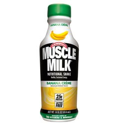 CytoSport Muscle Milk 500 ml Banana Creme Ready-to-Drink Protein Shakes - 12 x Bottles