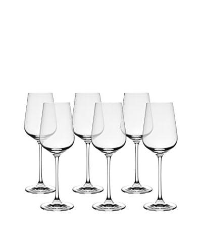 10 Strawberry Street Set of 6 Hong Kong Hip Chardonnay Wine Glasses, Clear