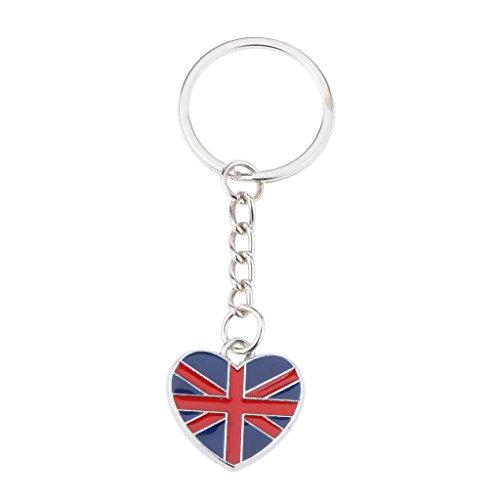 Britannico Regno Unito UK Bandiera Gb Di Cuore A Forma Di Unione Portachiavi Presa Portachiavi