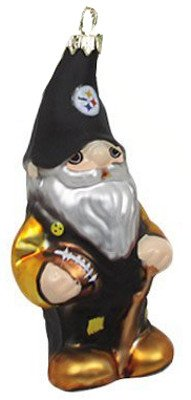 Pittsburgh Steelers Blown Glass Gnome Christmas Ornament from SteelerMania