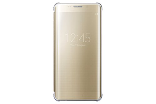 Samsung Galaxy S6 edge+ Case S-View Clear Flip Cover - Gold