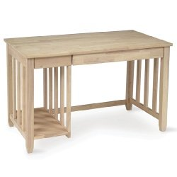 Buy Low Price Comfortable Unfinished Mission Wood Computer Desk (B0017LX9CM)