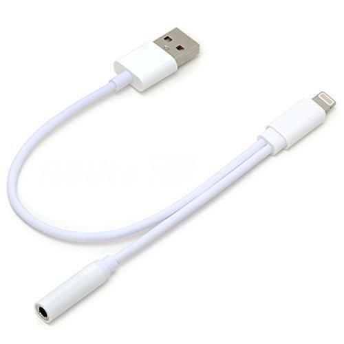 ルートアール iPhone7/7 Plus iOS10.1対応 充電可能イヤホン出力ケーブル ホワイト RC-LEC7W