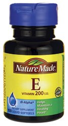 Nature Made Vitamin E -- 200 Iu - 100 Liquid Softgels