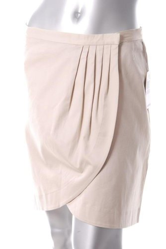 MICHAEL Michael Kors Beige Pleated Wrap Skirt Asymmetric 12