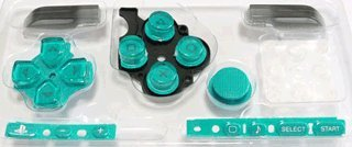 Sony PSP 3000 Series Button Set - Teal / Turquoise [customize] [repair part] [video game]