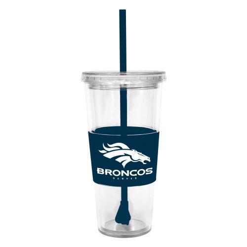 Nfl Denver Broncos Lidded Cold Cup With Straw front-87291