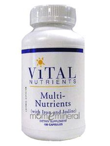 Multi-Nutrients w/ Iron & Iodine 180 by Vital Nutrients